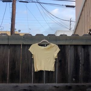 Yellow brandy mellovile crop top